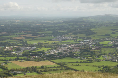 View of Millstreet from Clara Mountain