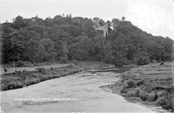 1910 Duarigle Castle from Duarigle Bridge - from the Laurence Collection