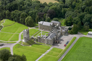 Drishane Castle from the air (looking westwards)