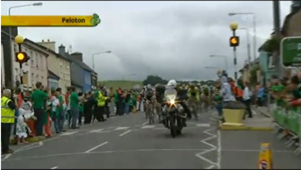 Tour of Ireland: peleton passing through Millstreet for the first time