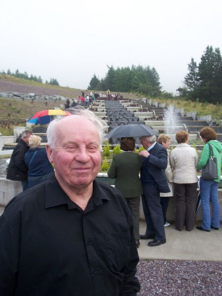 Tom Goggin, Kilcorney who was singing with the Duhallow Choir at the opening of the water feature at Millstreet Country Park