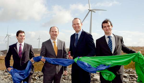 Official Opening Cermony of Airtricity's Coomacheo and Curragh Windfarm
