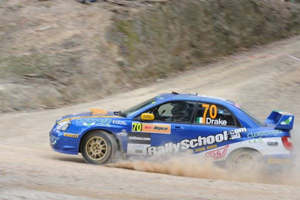 Charlie Drake and Eoin Moynihan on day 2 (Saturday) of WRC Australia