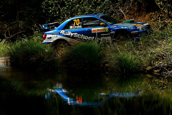 Charlie Drake and Eoin Moynihan compete in their Subaru Impreza WRX during the Repco Rally of Australia Special Stage 32 on September 6, 2009 in Kingscliff, Australia.