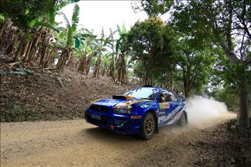 Charlie Drake (Ire) Eoin Moynihan (Ire) Subara Impreza WRX Rd 10 WRC Repco Rally Australia Tweed Valley NSW Australia