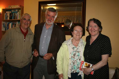 Pictured at the recent Millstreet Gramophone Circle's presentation by Bernard O'Donoghue, Cullen & Oxford (which had a capacity audience) – from left Jerry Murphy (Cork and originally from Cullen), Bernard O'Donoghue, Loreto O'Connor and Margaret (Bernard's sister) (pic Sean Radley)