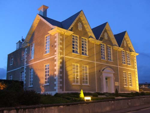 An evening view of the newly restored Carnegie Hall, Millstreet