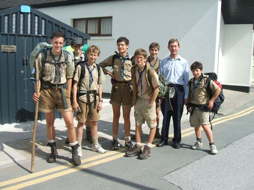 French Scouts – one of two groups – who visited  and overstayed in Millstreet during the Summer