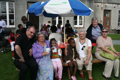 Enjoying the recent multicultural barbeque at Drishane