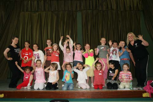 Enthusiastic participants attending the creative dance workshop held during the Summer at Millstreet GAA Community Hall