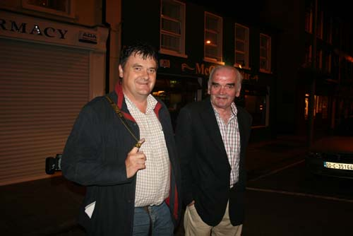 ohn Tarrant & Patrick McAuliffe at the Square, Millstreet having supported the Haven Barbeque