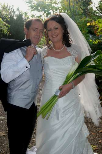 """Breeda Moynihan of """"The Diamond Sisters"""" fame and Denis Rahilly, Lyre, Banteer pictured after their recent wedding in St Patrick's Church, Millstreet.  They held their reception in the Killarney Heights (pic. Geraldine Dennehy)"""