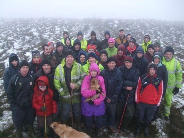 Brave souls that ventured to the top of Mushera Mountain for the annual Christmas Day Climb in aid of the Baby Jacob Trust Fund (click to see the full picture
