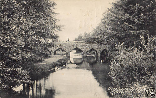 A postcard of Drishane Bridge from some time in the past