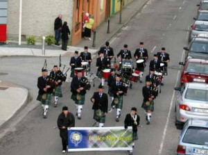 airtakephotos.ie - St.Patricks Day Parade - Cullen Pipe Band