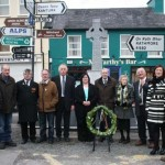 Participants in the Easter commemoration cermonies