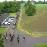 2010-05-30 Drishane Fete – Pipe Band lead the Vintage Parade in Drishane Back Gate