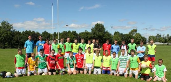 Donncha with U14s and U16s at Town Park