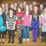 The victorious Millstreet under-11 camogie team at their annual social in the Wallis Arms Hotel (pic. Geraldine Dennehy)