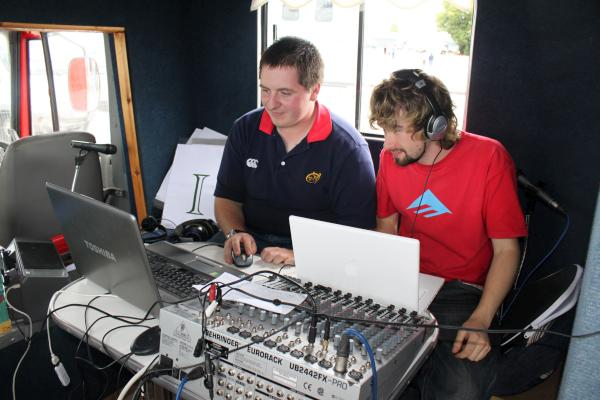Tadhg & Paddy in Communications Studio at Green Glens