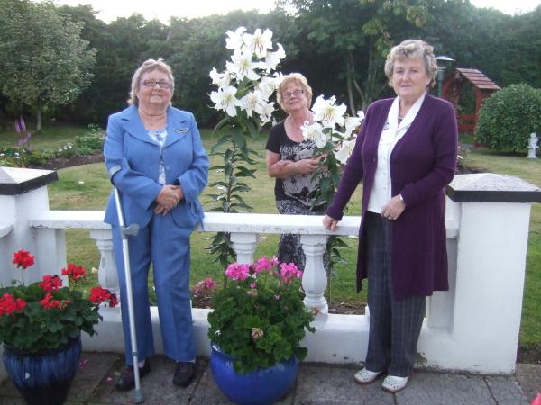 Eileen, Breeda & Anna with the Lilies