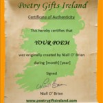 Poetry Gifts Ireland - cert