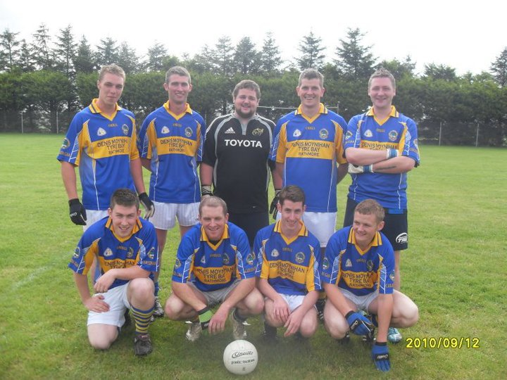 2010-09-12 Millstreet Macra Mens team - Muskerry winners. Pictured are: Niall Lynch, Michael O Riordan, Pat O