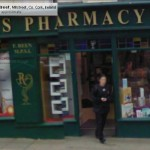 GoogleStreetView - Coming out of Reens Pharmacy