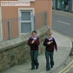 GoogleStreetView - Community School girls at the Junction of West End and the Station Road-800