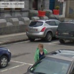 GoogleStreetView - Getting into her car in the Square