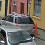 GoogleStreetView - Johnny O'Keeffe makes his way down Minor Row-800