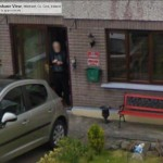 GoogleStreetView - Standing at his door-800
