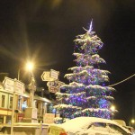 Millstreet's magnificent Christmas Tree at the Square as it appeared on Friday night (17th Dec. 2010).   The very attractive tree has some 6,000 tiny flashing colourful bulbs which are energy efficient.
