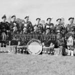 Millstreet Pipe Band - Back Row: Con Tarrant, Seamus Long (Cork City, Trainer), Eddie Murphy Ballydaly, Jerry Creedon Lacht, Tim O'Shea, Tullig; Jerry Sheehan, Ballinatona; Michael Kelleher, Laught; john Pat O'Riordan, Shanaknuk. Front Row: ?? Larry Moynihan; Anthony Smith (better known as Tony Dineen), Johnny  O'Keeffe, Pad Joe Kelleher; Liam Coffey.