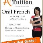 2011-02-07 A1 Tuition - Oral French flier