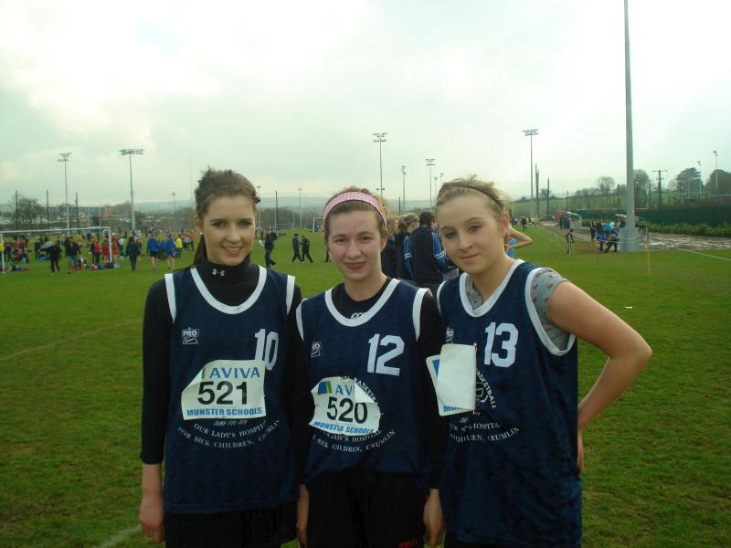 2011-02-17 At the Munster Schools Cross Country Championship - Muireann Murphy, Aideen Buckley, Ellie Dineen