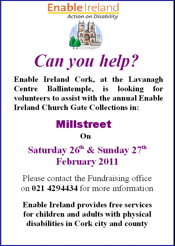 2011-02 Enable Ireland - looking for help
