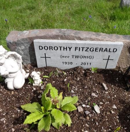 2011 Dorothy Fitzgerald grave at the Keel Graveyard, Clara Rd