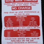 Offical Poster for Scrap Metal Collection