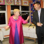 Anne O'Flynn expressing her absolute delight at the truly magnificent reception in Derrinagree N.S.  marking her thirty-eight years of dedicated service to Primary Education.