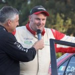 2011-11-13 Charlie Drake being interview after winning the Australian Rally Championships Premier League