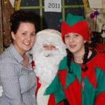 Santa & his helpers, Joann & the Elf