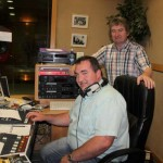 DJ William Fitzgerald of Cork Music Station and Michael Commins of Midwest Radio..