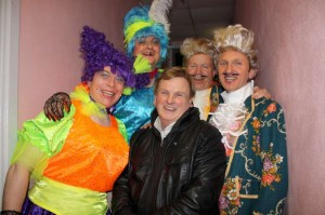 "Val Moynihan with four of the supremely talented Cast of ""Cinderella"" at Rathmore Community Centre where an extra performance is scheduled for this Sunday, 12th Feb. 2012"