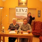Eily, Bernard and Seán preparing Programme 204 at Mount Leader Studio,