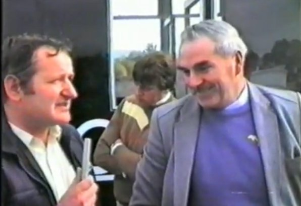 1984 Cork 20 Rally - Aurthur O'Keeffe being interviewed by LTV