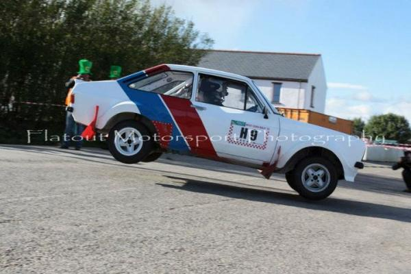 2012-03-18 John Murphy (Tullig) in mid air during the West Cork Rally - historic section
