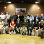 One of the three tutorial groups photographed with tutor, Matt Murphy at the hugely successful Class Reunion 1976-1981 held at the Wallis Arms Hotel, Millstreet on Friday, 16th March