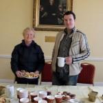 Kathleen and John Kelleher prepare for Coffee Morning 21/04/2012