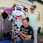 """The Very Friendly Cow"" was an enormous hit at Cloghoula N.S. Pattern Day on Sunday, 20th May 2012 - especially when generously distributing delicious ""Carriganima Ice Cream""!!  (S.R.)"